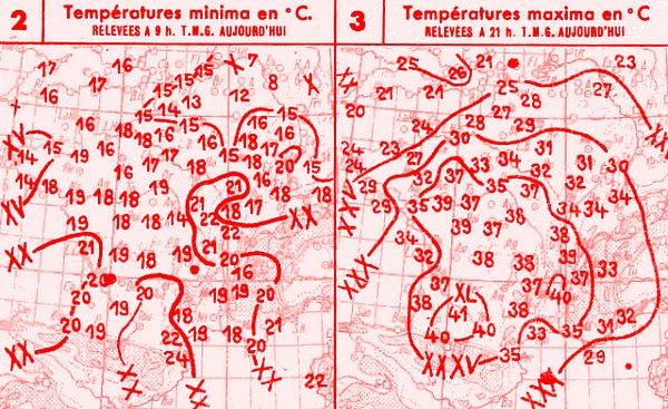 temperatures du 1er aout 1947
