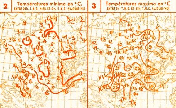 temperatures du 10 mars 1947