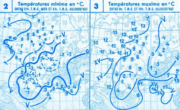 temperatures du 13 novembre 1946