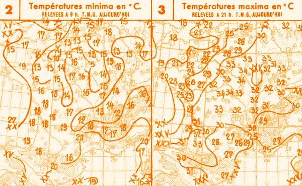 temperatures du 13 septembre 1947