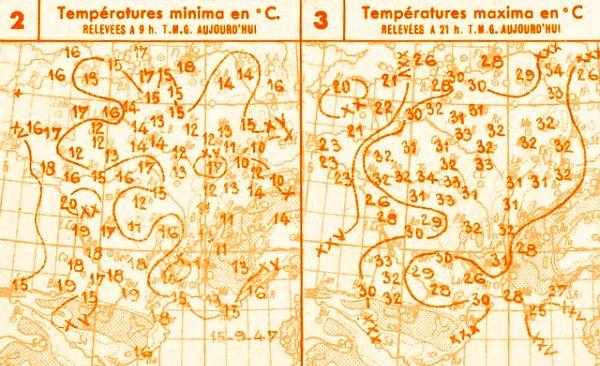 temperatures du 15 septembre 1947