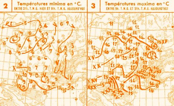 temperatures du 17 mars 1947