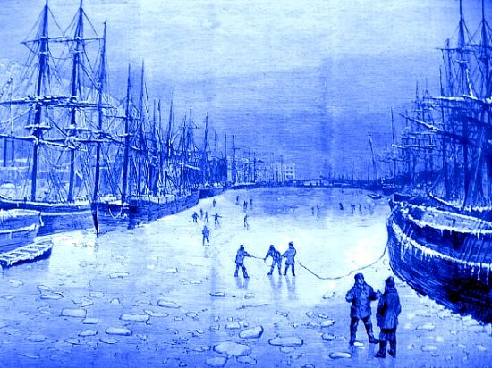 bassin du port d`Honfleur decembre 1879