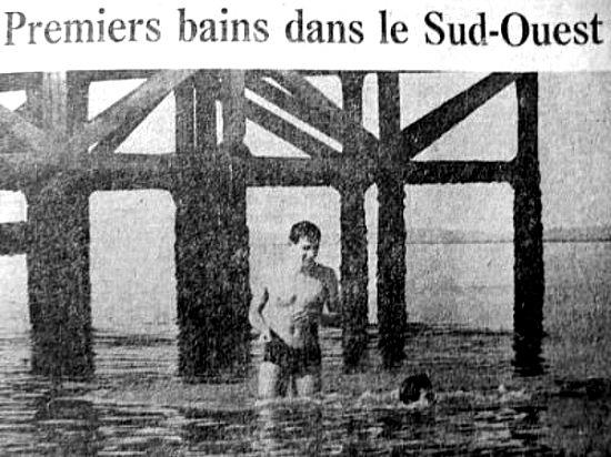 premiers bains frileux mars 1963