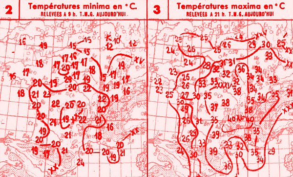 temperatures du 2 aout 1947