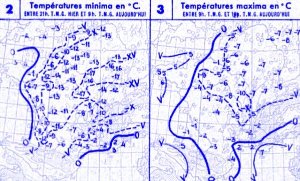 temperatures du 20 decembre 1946