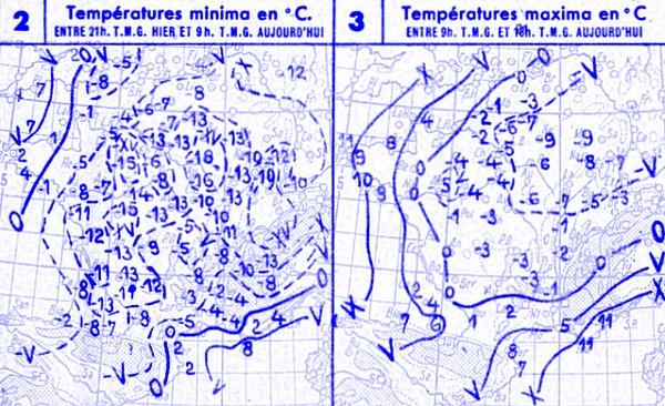 temperatures du 22 decembre 1946