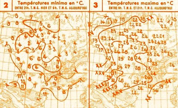 temperatures du 25 avril 1947