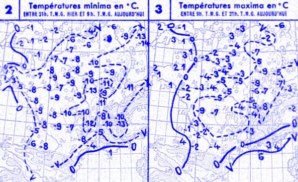 temperatures du 26 janvier 1947