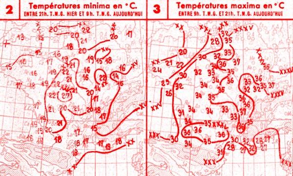 temperatures du 27 juin 1947
