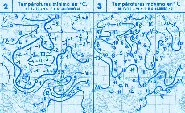 temperatures du 27 octobre 1947