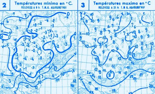temperatures du 28 octobre 1947