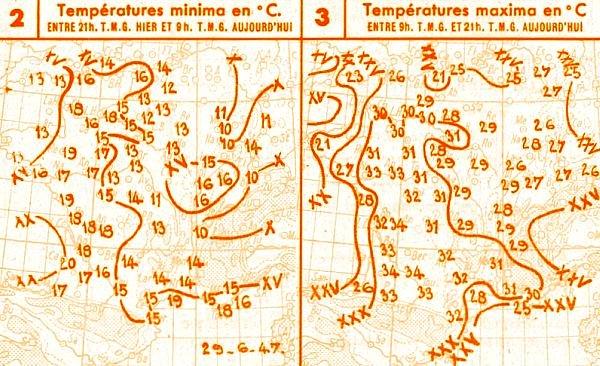 températures du 29 mai 1947