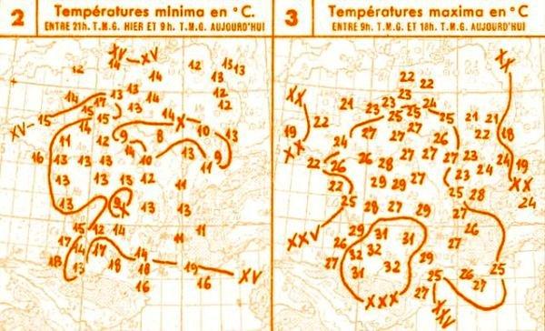 temperatures du 3 octobre 1946