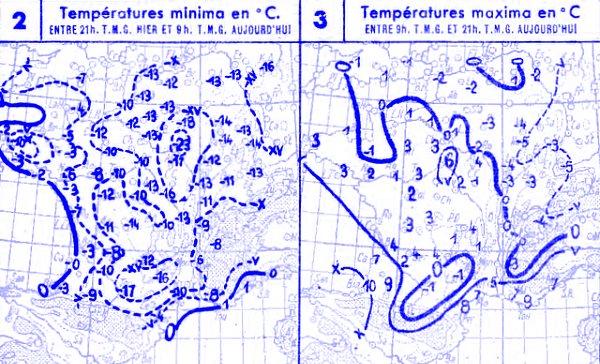 temperatures du 30 janvier 1947