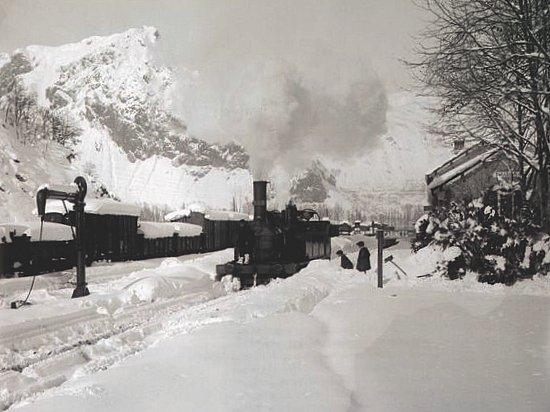 gare de Tarascon sous la neige