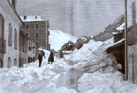 avalanches a Bareges durant l`hiver 1895