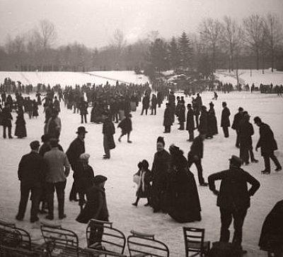 patineurs au bois de Boulogne en 1893