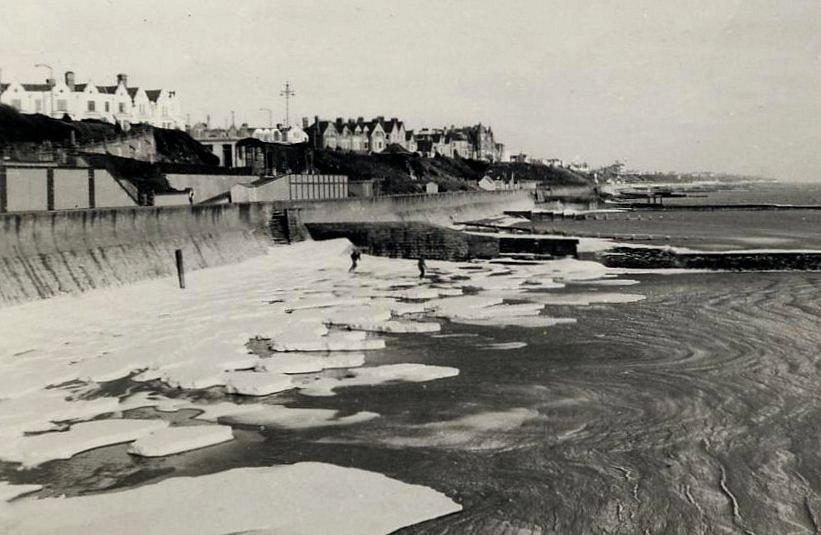 mer gelee Clacton hiver 1962 1963