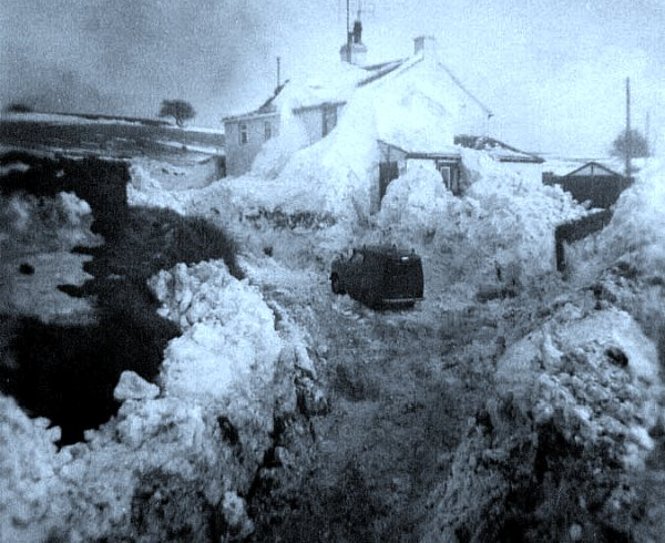 cottage Angleterre hiver 1962 1963