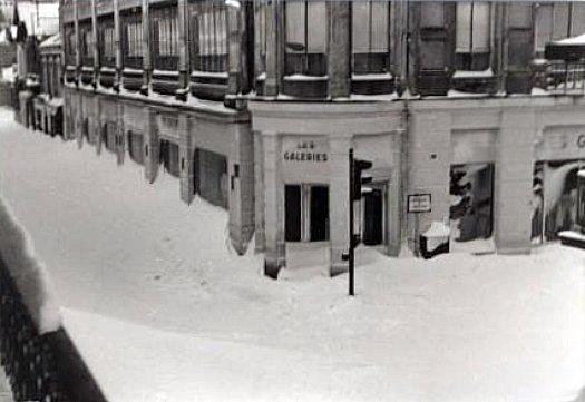 les Galeries Lafayette a Arcachon le 21 fevrier 1956