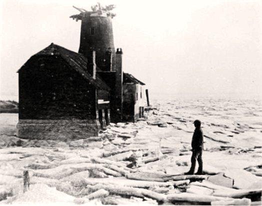 la Manche gelee en fevrier 1895