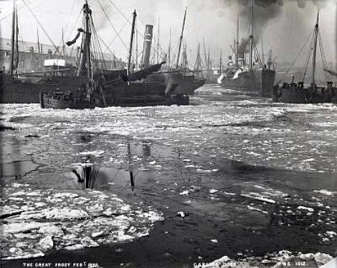 les docks de Liverpool en fevrier 1895