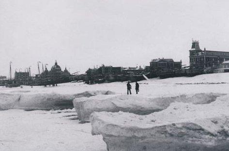 la Mer du Nord gelee en 1891