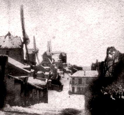 Montmartre sous la neige en 1853