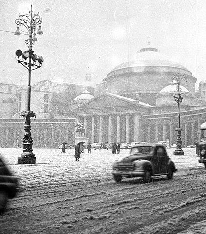 Naples sous la neige en fevrier 1956