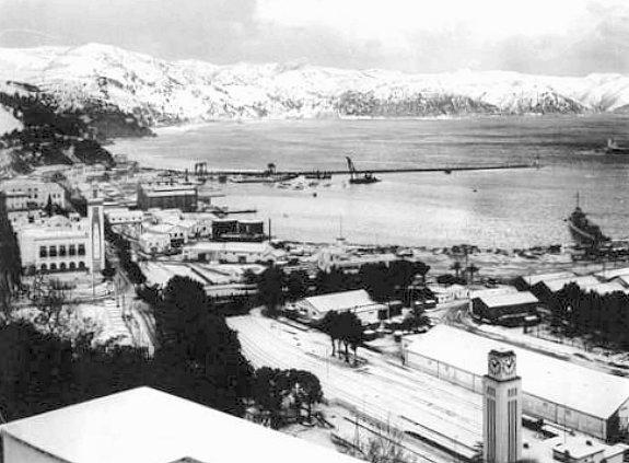 Philippeville sous la neige en fevrier 1956