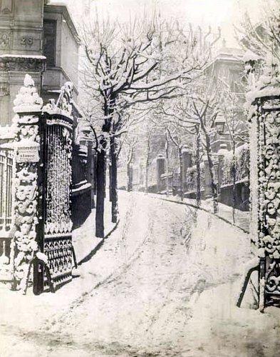 l`impasse Frochot sous la neige le 18 decembre 1879