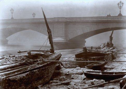 la Tamise gelee au pont de Putney en 1891