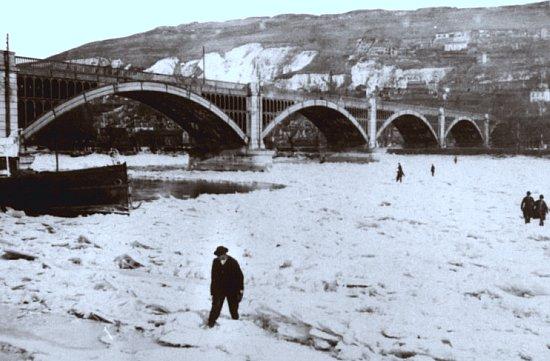 la seine gelee a Rouen en 1895