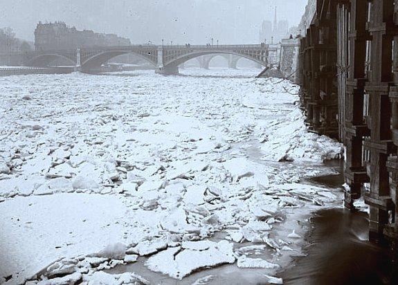la Seine gelee en 1891