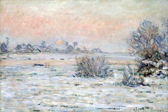 givre matinal en janvier 1880 par Claude Monet