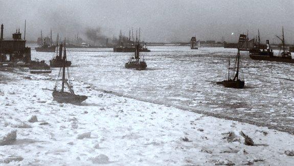 la Tamise gelee en fevrier 1895