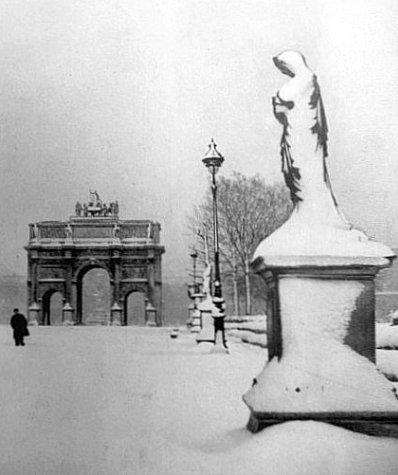 jardin des Tuileries en mars 1946