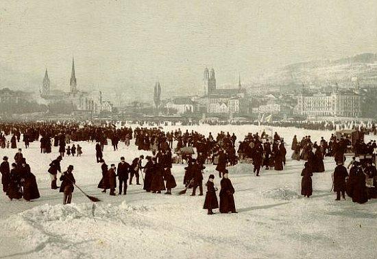 lac de Zurich gele en 1895