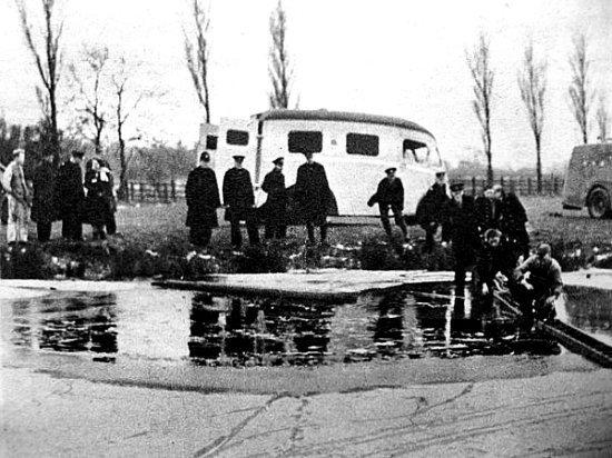 accident sur un lac gele en fevrier 1954