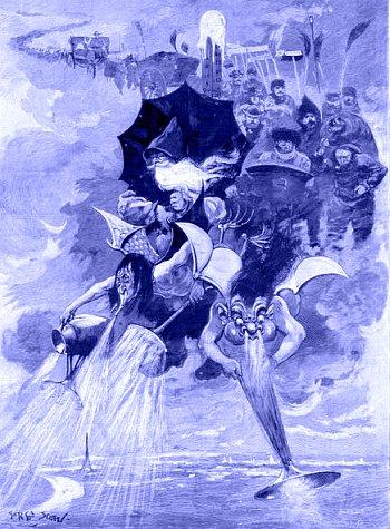allegorie de l`hiver datant de decembre 1892