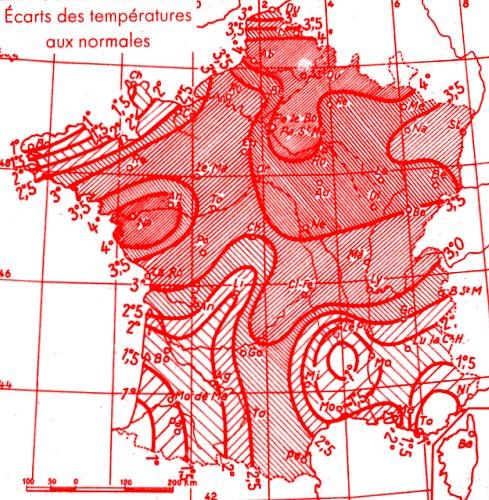 temperatures en aout 1947