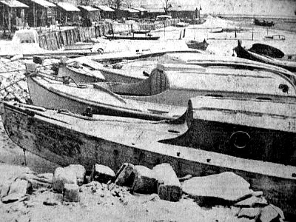 les cabannes d`Arcachon en janvier 63