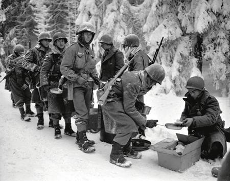 bataille des Ardennes en janvier 1947
