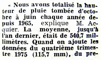 1er article pluviometrie 1976