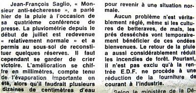 article sur les pluies inutiles fin juillet 76