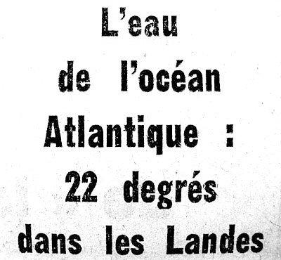 entete eaux chaudes dans l`atlantique ete 76