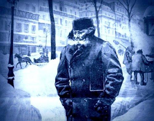 parisien dans la neige boulevard des italiens décembre 1879