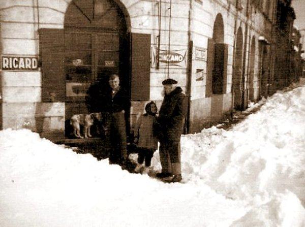 bordelais dans la neige 1956