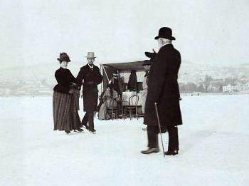 buvette sur le lac de Zurich gele en 1891
